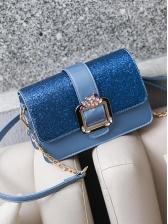 Glitter Sequins Powder Metal Buckle Crossbody Bags