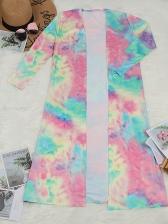 Printed Long Sleeve Coat With Long Pants
