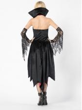 Lace Stitching Irregular Dress Halloween Vampire Costume