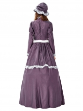 Court Style Large Swing Maxi Dress Halloween Costumes