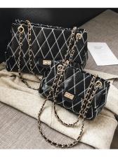 Mini Size Diamond Pattern Shoulder Bag With Chain