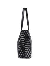 Large Capacity Stitching Twist Lock Ladies Tote Bags