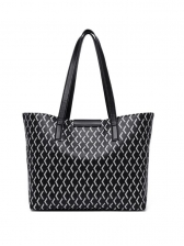 Large Capacity Stitching Twist Lock Ladies Tote Bags