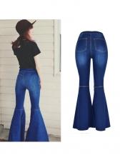 Smart Waist Gradient Color Flare Buttom Jean