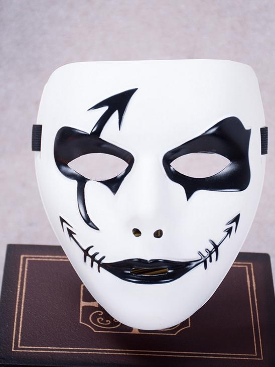 Contrast Color Men Mask For Dance Performance