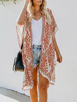 Bohemian Tassel Half Sleeve Summer Long Cardigan