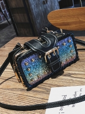 Sequined Powder Beads Multiple Layers Crossbody Bags