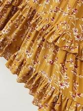 Bohemia Style Long Sleeve Floral Dress