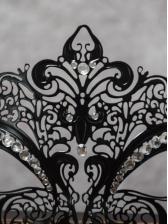 Diamond Decor Hollow Out Pattern Metal Dance Mask