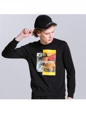 Popular Hip-Pop Printed Long Sleeve Sweatshirt