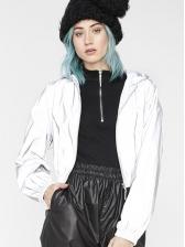 Reflective Hooded Long Sleeve Ladies Coat