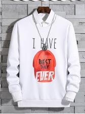Streetwear Printed Letter Patchwork Sweatshirt