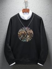 Chic Long Sleeve Letter Printed Male Sweatshirt