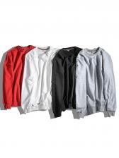 Fashion Letter M Printed Long Sleeve Velvet Sweatshirt