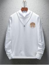 Modern Lion Printed Long Sleeve Sweatshirt