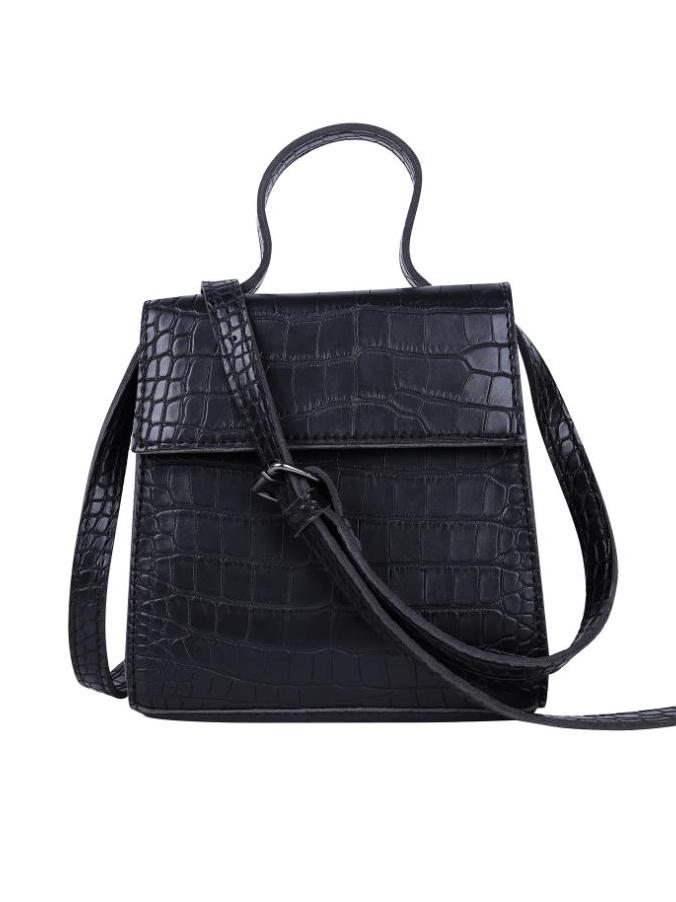 Alligator Print Solid Color Ladies Shoulder Bag