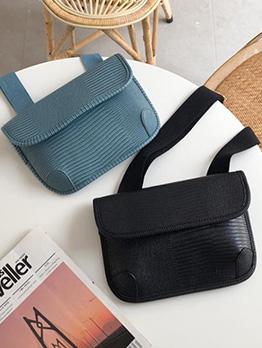Solid Color Grain Practical Crossbody Bags