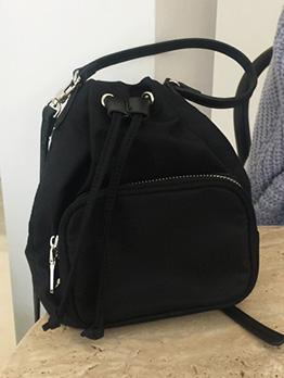 Drawstring Design Black Crossbody Bags For Women