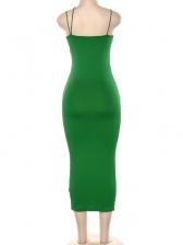 Sexy V Neck Low-Cut Sleeveless Bodycon Dress