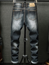 Fashion Embroidery Letter Mens Jeans