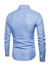 Fashion Polka Dots Button Down Shirts For Men