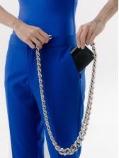 Fashionable Silvery Thick Chain Mini Crossbody Bags