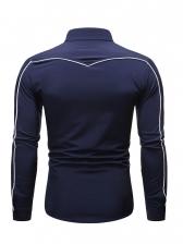 Simple Turndown Collar Shirts For Men