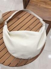 Semicircular Double Zipper Canvas Crossbody Bags