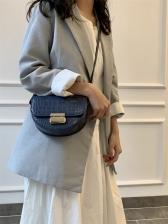 Semicircular Alligator Print Shoulder Bag For Women