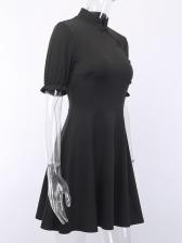 Cheongsam Design Empire Waist Short Sleeve Summer Dresses