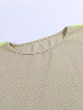 Crew Neck Solid Mini Long Sleeve Bodycon Dress