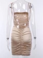 Night Club Backless Low Cut Slip Dress