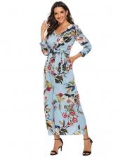 Bohemia Style Split Hem Floral Maxi Dress