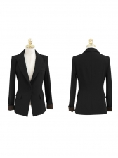Ol Style One Button Solid Two Piece Suit For Women