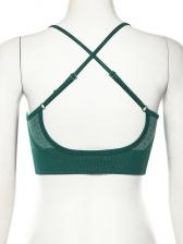 Sexy Cross Spaghetti Straps Cropped Ladies Sportswear
