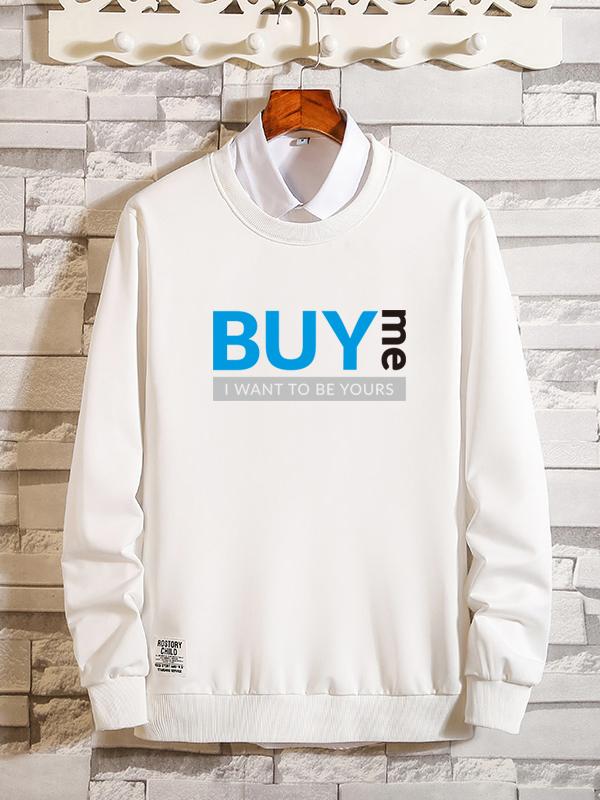 Letter Printed Long Sleeve Sweatshirt