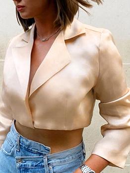OL Style Cropped Blazer Ladies Blouse