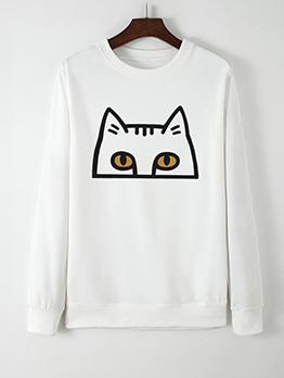 Creative Cat Printed Sweatshirts For Women