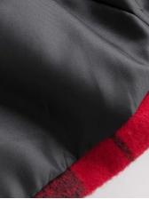 British Style Plaid Woolen Blazer Coat