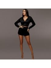 Casual Cropped Top Slim Waist Short Ladies Sportswear