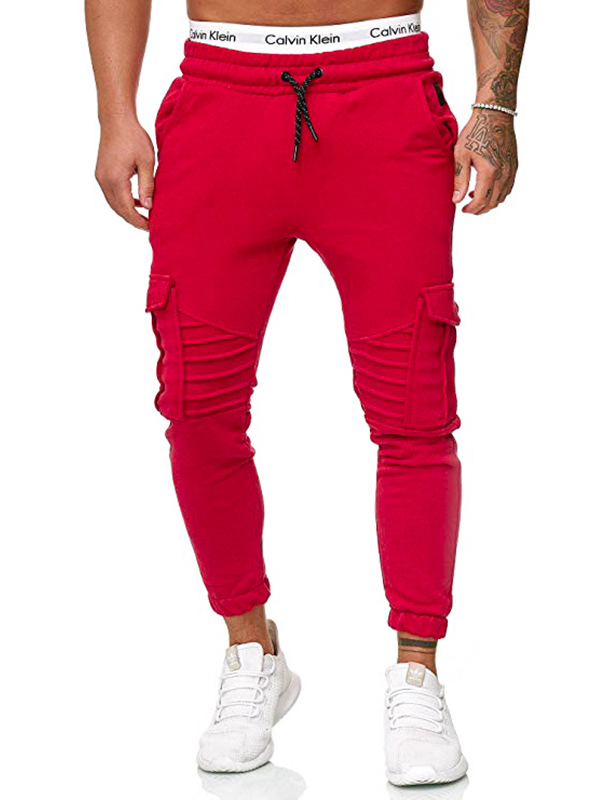 Elastic Drawstring Pencil Jogger Pants