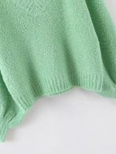 Lantern Sleeve Green Ladies Coats