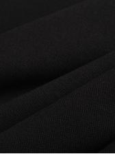 Cold Shoulder Black Long Sleeve Dress