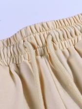Solid Patchwork Smart Waist Pants For Women