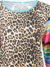 Patchwork Leopard Printed T Shirt Design