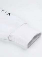 Thorn Long Sleeve Long White Hoodie