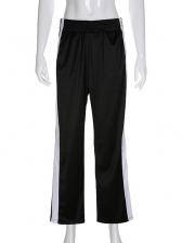Button Split Casual Pants For Women