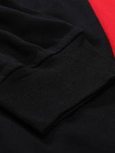 Fashion Contrast Color Letter Drawstring Pants
