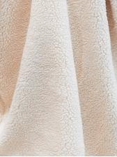 Solid Long Sleeve Long Fleece Coat