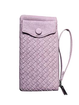 Weaving Solid Long Designer Wallet